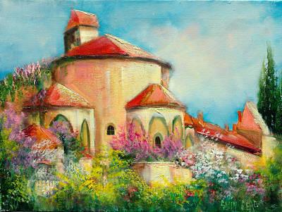 Italian Villa Art Print by Sally Seago