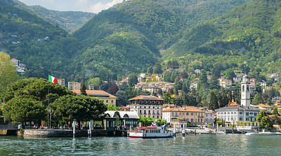 Italian Village On Lake Como Art Print