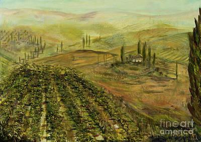 Italian Wine Painting - Italian Vineyard by Jodi Monahan