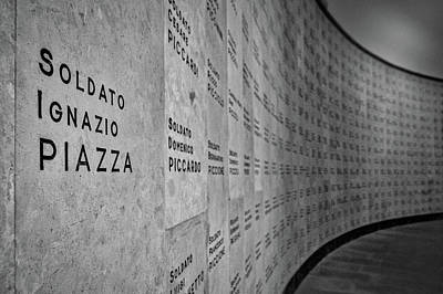 Photograph - Italian War Dead Names by Stuart Litoff
