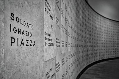 Photograph - Italian War Dead Names by Stuart Litoff