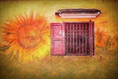 Photograph - Italian Window Mural by Debra and Dave Vanderlaan
