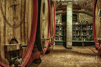 Photograph - Italian Wine Cellar by Patricia Hofmeester