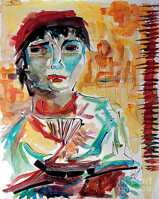 Painting - Italian Woman After Van Gogh by Ginette Callaway