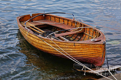 Photograph - Italian Wooden Dinghy by TK Goforth