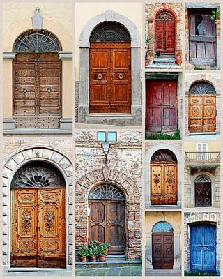Photograph - Italian Wooden Doors Collage by Dorothy Berry-Lound