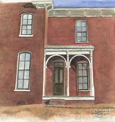 Corbels Painting - Italianate Porch And Windows by Jerry Grissom