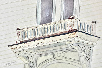 Corbels Painting - Italianatearchitecture by Bonnie Young