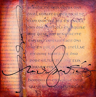 Wall Art - Painting - Italic Manuscript by Jane Dill