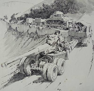 Drawing - Italy 1943. by Mike Jeffries