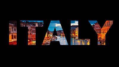 Digital Art - Italy by Ashley Heath