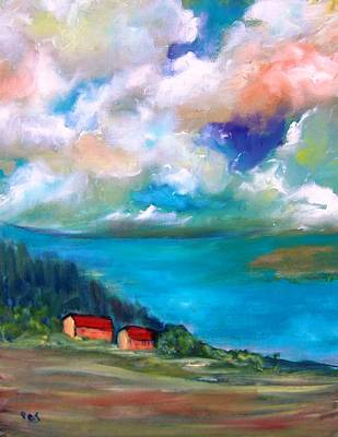 Painting - Italy Big Lake Region by Patricia Taylor