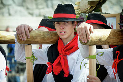 Photograph - Italy Bormio April 16 2017 Celebration Of Pasquali by Alfio Finocchiaro