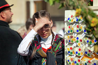 Photograph - Italy Bormio April 16 2017 Celebration Of Pasquali In Bormi by Alfio Finocchiaro