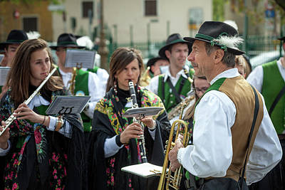 Photograph - Italy Bormio April 16 2017 Celebration Of Pasquali In Bormio by Alfio Finocchiaro
