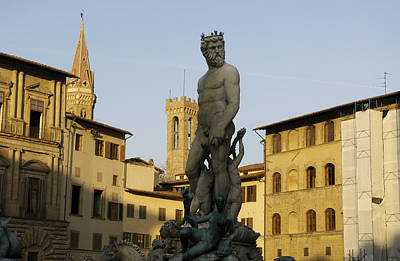 Italy, Florence, Neptune Fountain Print by Sisse Brimberg & Cotton Coulson