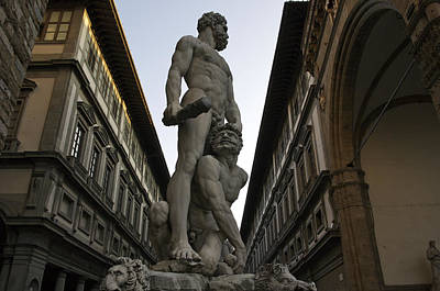 Italy, Florence, Sculpture Of Gercules Art Print by Sisse Brimberg & Cotton Coulson