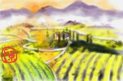 Digital Art - Italy From Afar by Debbi Saccomanno Chan
