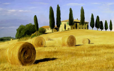 Scott Melby Painting - Italy In Fall by Scott Melby