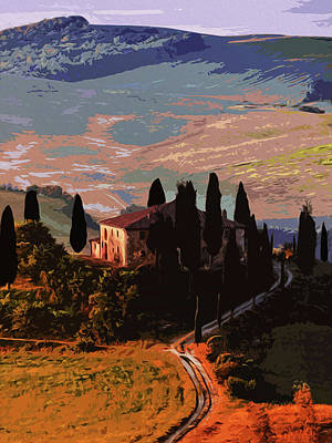 Pastoral Vineyard Painting - Italy, Kissed By The Sun by Andrea Mazzocchetti