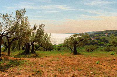 Painting - Italy, Landscape From The Trabocchi Coast - 02 by Andrea Mazzocchetti