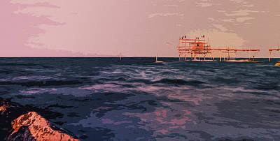 Painting - Italy, Mediterranean Sunset by Andrea Mazzocchetti