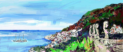 Digital Art - Italy Ravello Villa Cimbrone Digital Painting by Ginette Callaway