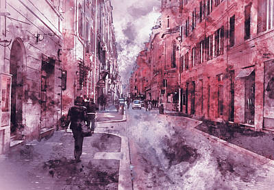 Painting - Italy, The Old Streets Of Rome - 01 by Andrea Mazzocchetti