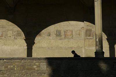 Italy, Tuscany, Florence, A Man Walks Art Print by Keenpress
