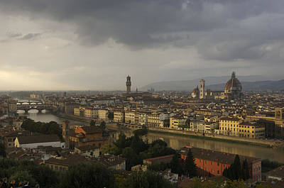 Italy, Tuscany, Florence, Elevated View Print by Keenpress
