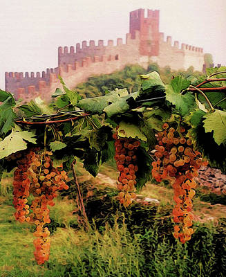 Painting - Italy, Vineyards And Castles by Andrea Mazzocchetti