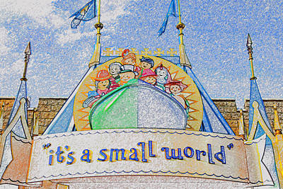Small Digital Art - It's A Small World Entrance Original Work by David Lee Thompson