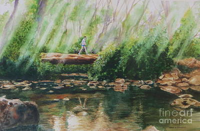 Painting - Iten Forest Stroll by Karol Wyckoff