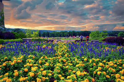Ithaca College Ithaca New York Floral 03 Art Print