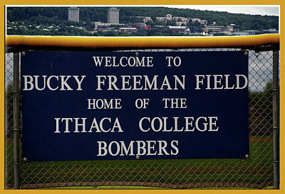 Softball Mixed Media - Ithaca College New York Bucky Freeman Field Bombers Signage by Thomas Woolworth