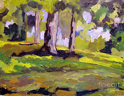 Sycamore Painting - Ithink I Shall Never See Plein Air Framed by Charlie Spear