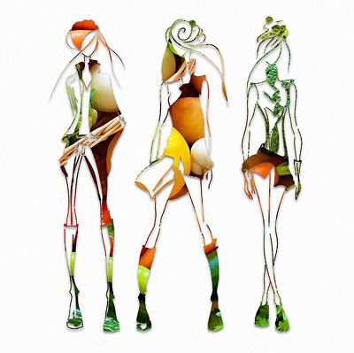 Runway Fashion Art Mixed Media - Itialian Leafy Salad Dressing by Marvin Blaine