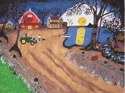 Fence Painting - It's A Beautiful Morning by Jeffrey Koss