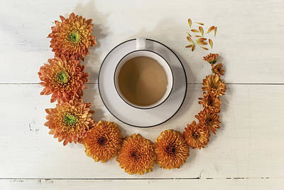 Laid -back Art Photograph - It's A Flowers And Coffee Day by Kim Hojnacki