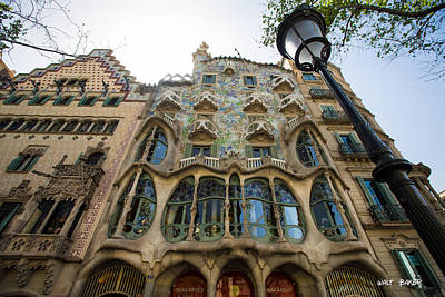 Photograph - It's A Gaudi House by Walt  Baker