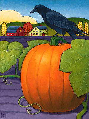 Halloween Pumpkin Painting - Its A Great Pumpkin by Stacey Neumiller