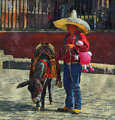 Mexicano Photograph - It's A Job by John  Kolenberg