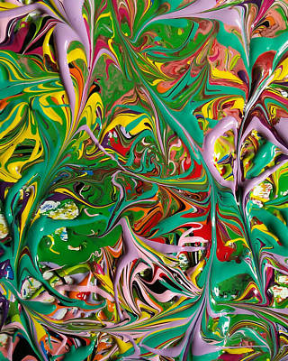 Trippy Maze Art Painting - It's A Jungle In Here by Keeley Chevrier