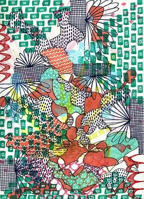 Mixed Media - It's A Jungle Out There by Lisa Noneman