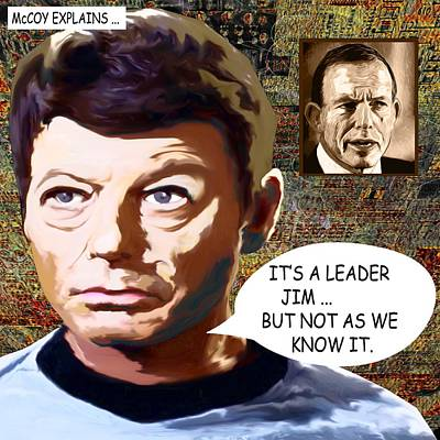 Its A Leader Jim Art Print by Chas Hauxby