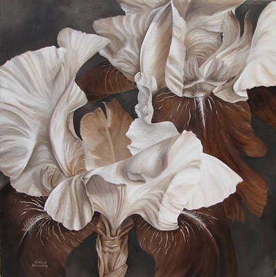 Monotone Painting - It's A Perfect Duet by Karlyn Holloway