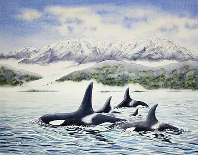 Olympic National Park Painting - Its A Pod Life by Julie Senf