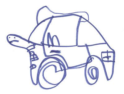 It's A Turtle Car Art Print