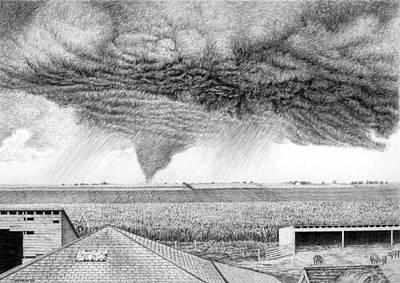 Tornado Drawing - It's A Twister by Craig Carlson