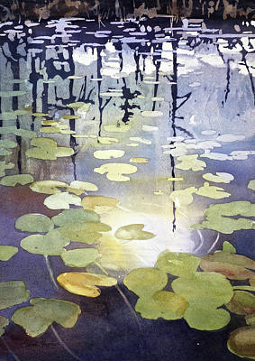 Lilly Pond Painting - It's A Waterlily World by Sarah Yeoman